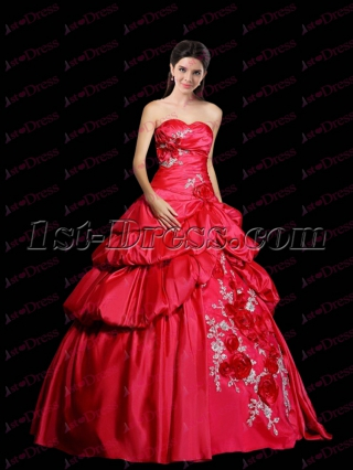 Exquisite 2017 Quinceanera Dress with Flowers