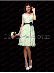 Sweet Light Blue Summer Bridesmaid Dress