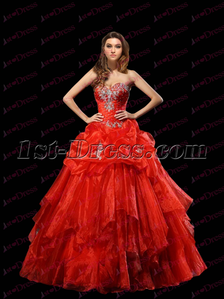Charming Burnt Orange Ball Gown 2017:1st-dress.com
