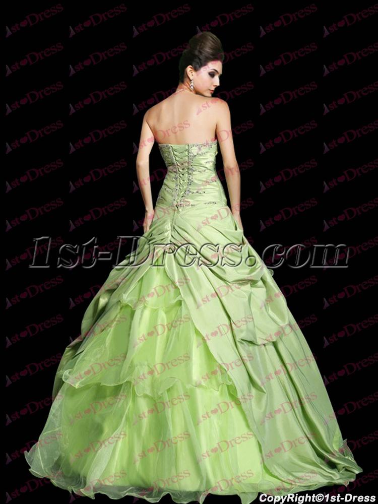 2859c048beb Pretty Drop Waist Sage Princess Sweet 15 Ball Gown (Free Shipping)