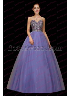 Pretty Lavender Jeweled Sweetheart 2017 Quinceanera Gown