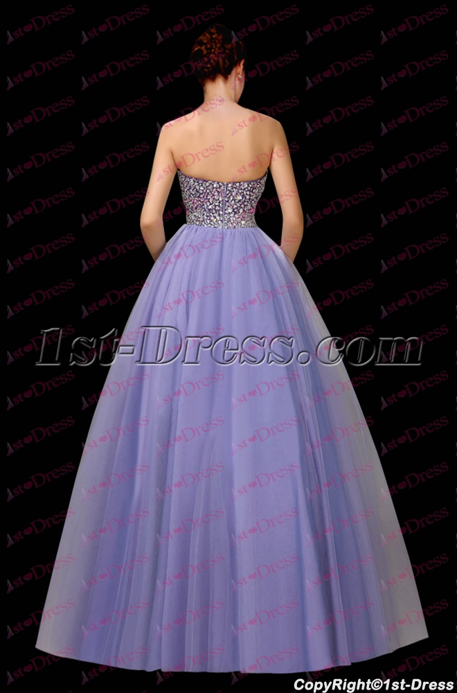 9b933370e09 Pretty Lavender Jeweled Sweetheart 2017 Quinceanera Gown (Free Shipping)