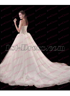 2017 Pretty Organza Ball Gown Wedding Dress