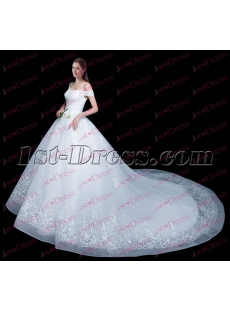Beautiful Off Shoulder Ball Gown Wedding Dress 2017
