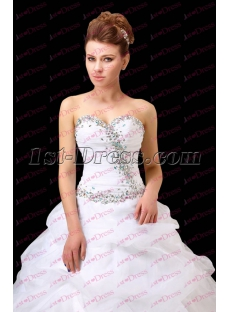 Romantic White Sweetheart Quinceanera Dress 2017
