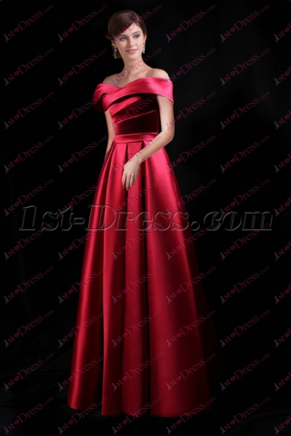 Charming Maxi Off Shoulder Bridesmaid Dress 2018