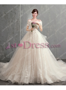 Best Gorgeous Off Shoulder Ball Gown Bridal Gown 2018