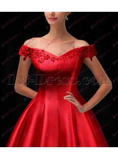 Elegant Red Tea Length Short Brial Gown 2018