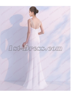2018 Decent White Long Prom Dress with Slit