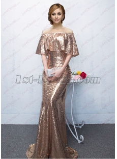 Bling Sequins Long Formal Evening Dress 2018