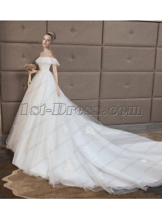 Glamorous Off Shoulder Sweetheart Lace Bridal Gown 2018