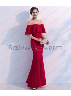 Intellectuality Illusion Burgundy Sheath Formal Prom Dresses