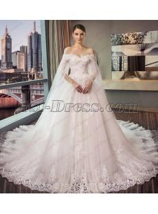 Romantic Long Sleeve Off Shoulder Wedding Dresses 2018