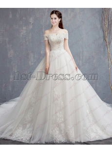 Royal Off Shoulder Bridal Gown 2018