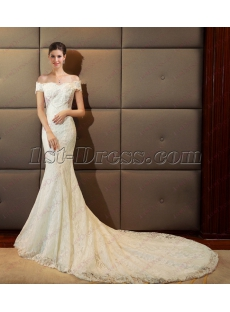 Sexy 2018 Mermaid Bridal Gown with Off Shoulder