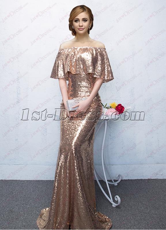 89430fd15f92 Bling Sequins Long Formal Evening Dress 2018 1st. Women Lace Prom Fl ...
