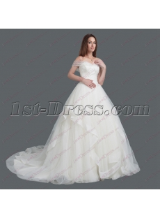 2018 Off Shoulder Princess Wedding Dress