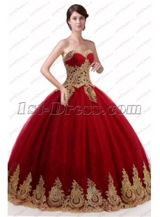 Beautiful Burgundy 2018 Quinceanera Dresses Puffy