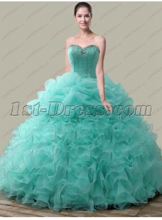 f374c9ad66d Luxurious Sweetheart Beaded Ruffled Quinceanera Dress 2018  US  275.00   Free Shipping