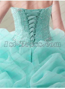 Luxurious Sweetheart Beaded Ruffled Quinceanera Dress 2018