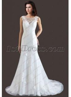 Romantic Sheath Lace 2018 Bridal Gown