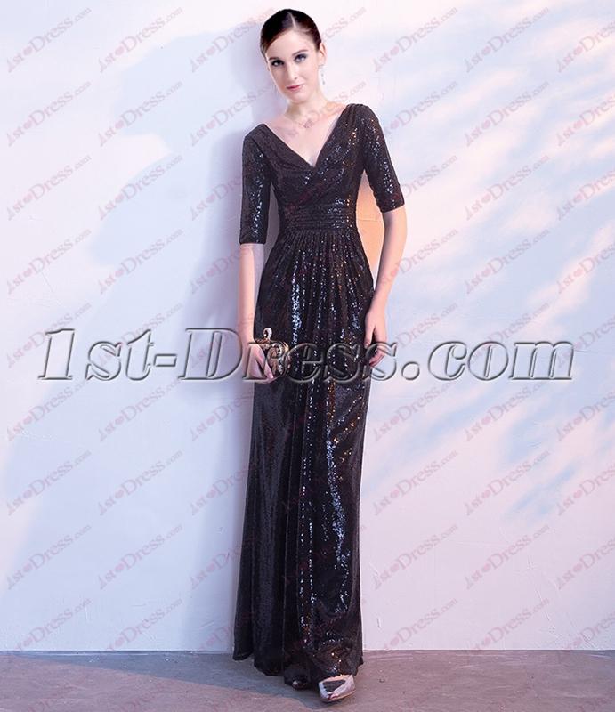 images/201810/big/2018-Black-Sequins-Formal-Evening-Dress-with-V-neckline-4908-b-1-1538821150.jpg