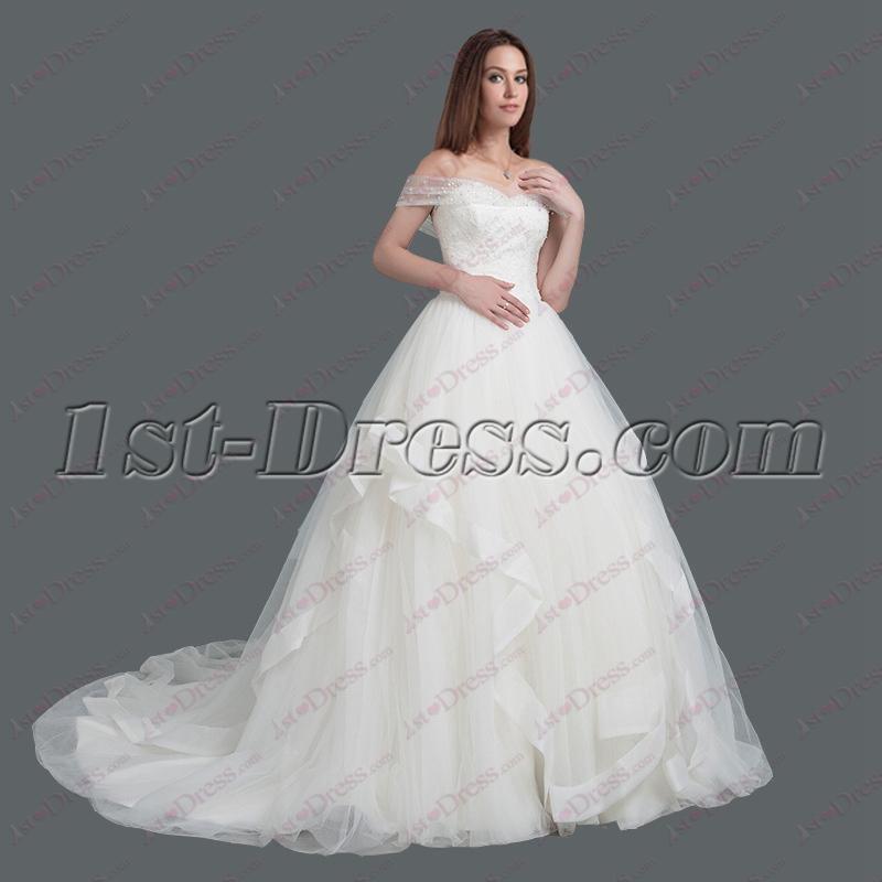 Wedding Dresses 2018.2018 Off Shoulder Princess Wedding Dress 275 00