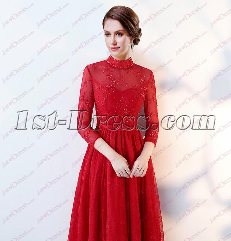 images/201810/big/3-4-Long-Sleeves-Vintage-High-Neckline-Lace-Evening-Dress-2018-4906-b-1-1538820629.jpg