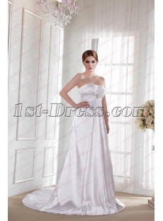 Casual Empire Bridal Gown 2019 for Plus Size