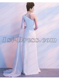 Simple Chiffon Traditional Bridal Gown 2019 with Sash