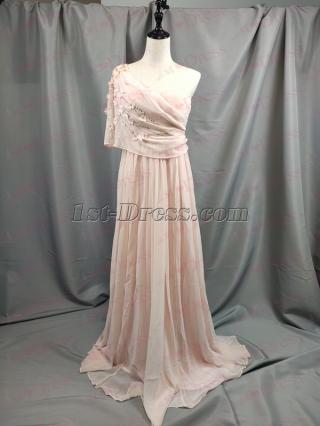 2019 New Dusty Rose One Shoulder Formal Evening Dress