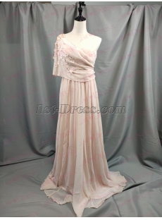 2019 New Dusty Rose One Shoulder Formal Evening Dress