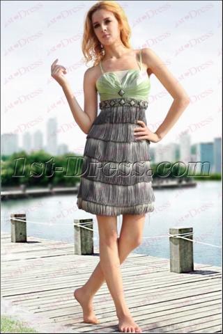 Unique Gradient Tassel Short Dress under 50