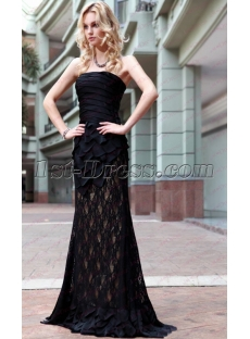 Charming Long Black Mermaid Dress under 100