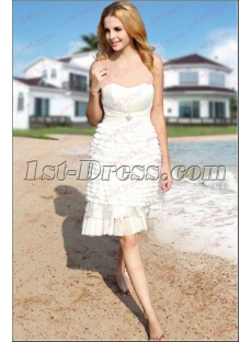 Sweet Beach White Short Casual Dress under 50