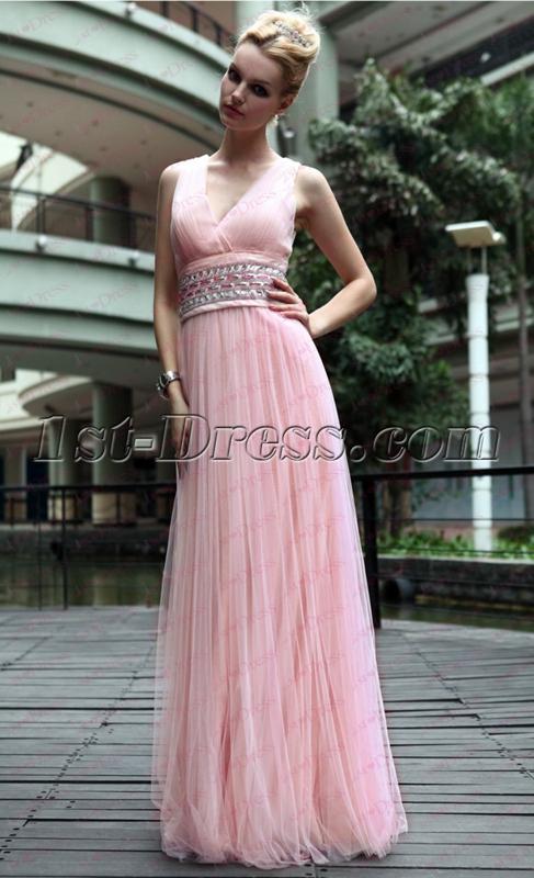 images/201911/big/V-neckline-Pink-Flowy-Long-Prom-Dress-under-100-4937-b-1-1575010123.jpg