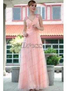 Charming Tulle A line V neck Formal Prom Dress under 100