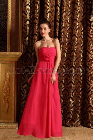 New Cheap Long Fuchsia Bridesmaid Dresses