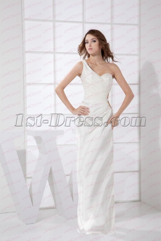 Sexy White One Shoulder Homecoming Dress 2020