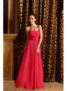 New Cheap Long Fuchsia Bridesmaid Dresses