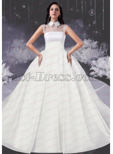 New Modset Ball Gown Bridal Dress with High Neckline